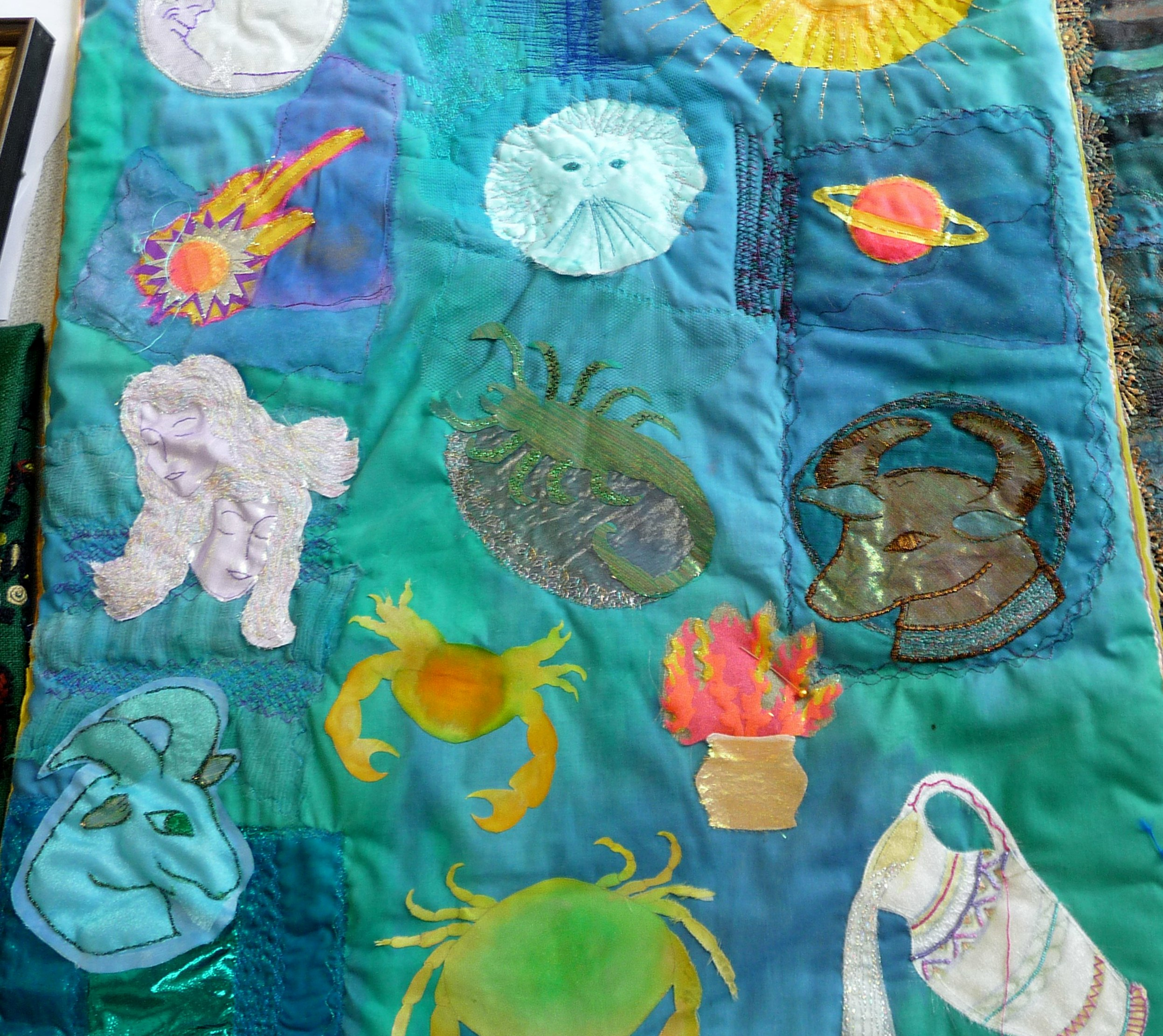 unfinished embroidery by Beryl Waterfield, Altrincham EG