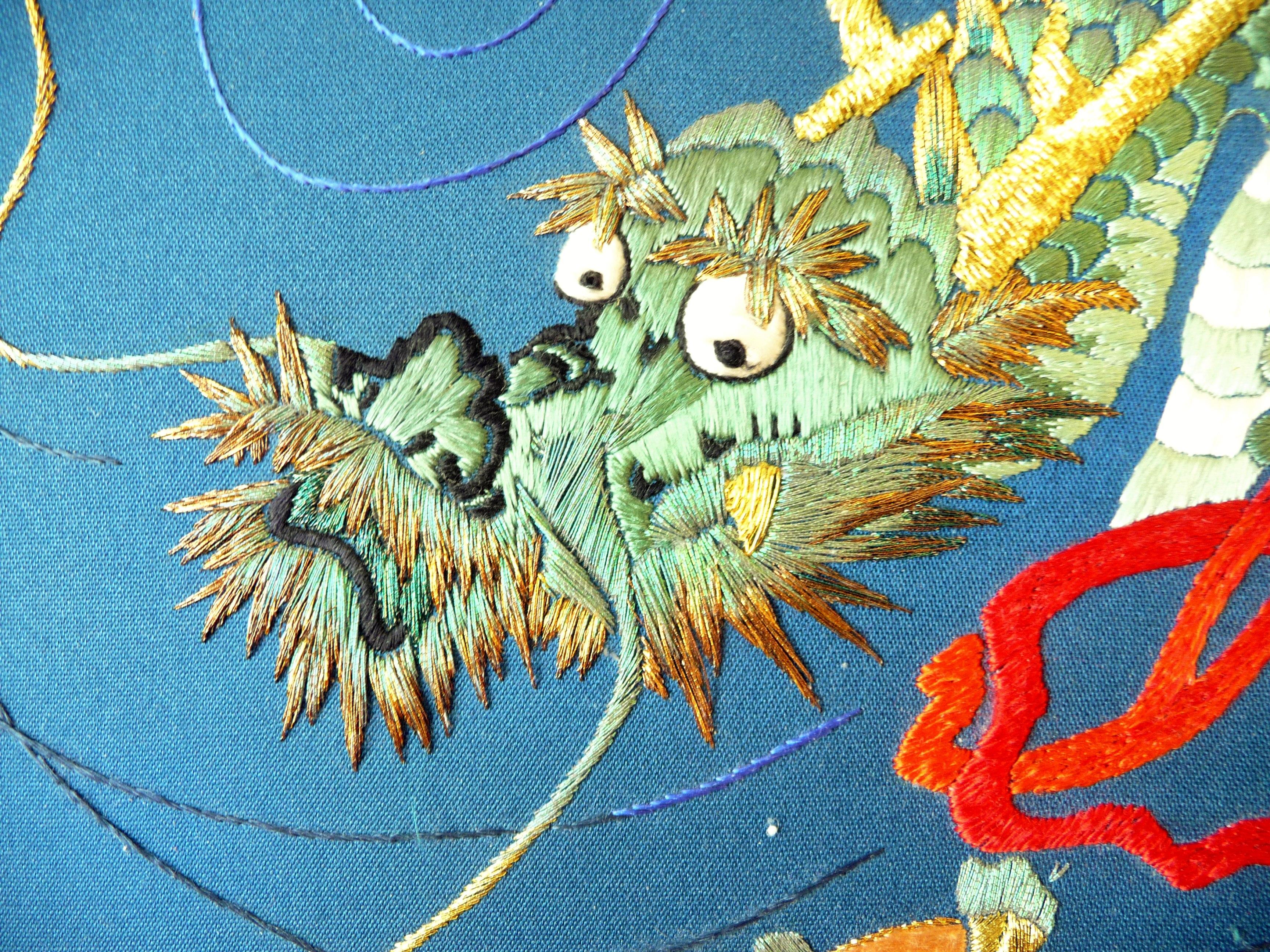 detail of Japanese embroidery by Sandra McFarlane, Altrincham EG