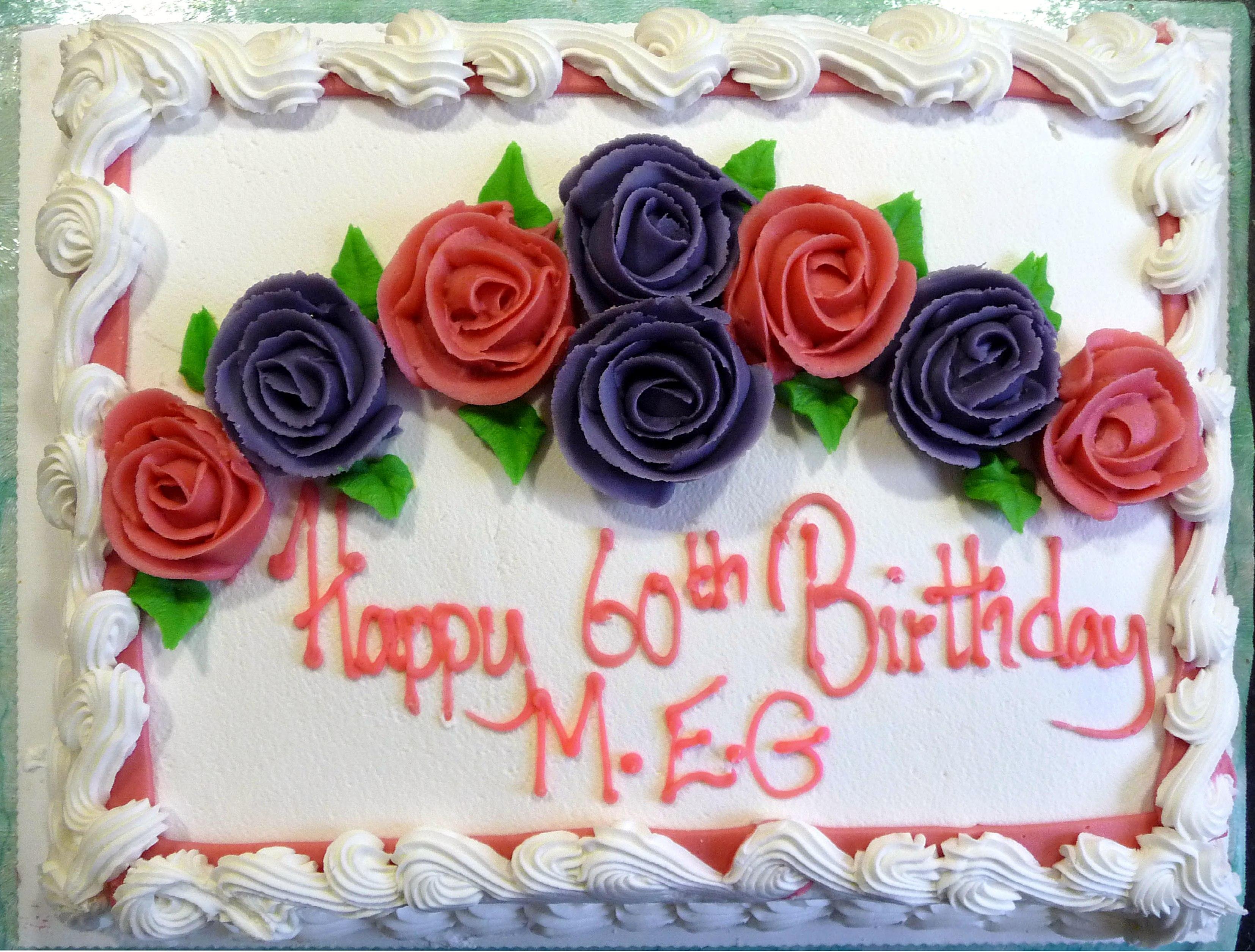 Merseyside E.G. 60th Anniversary Cake