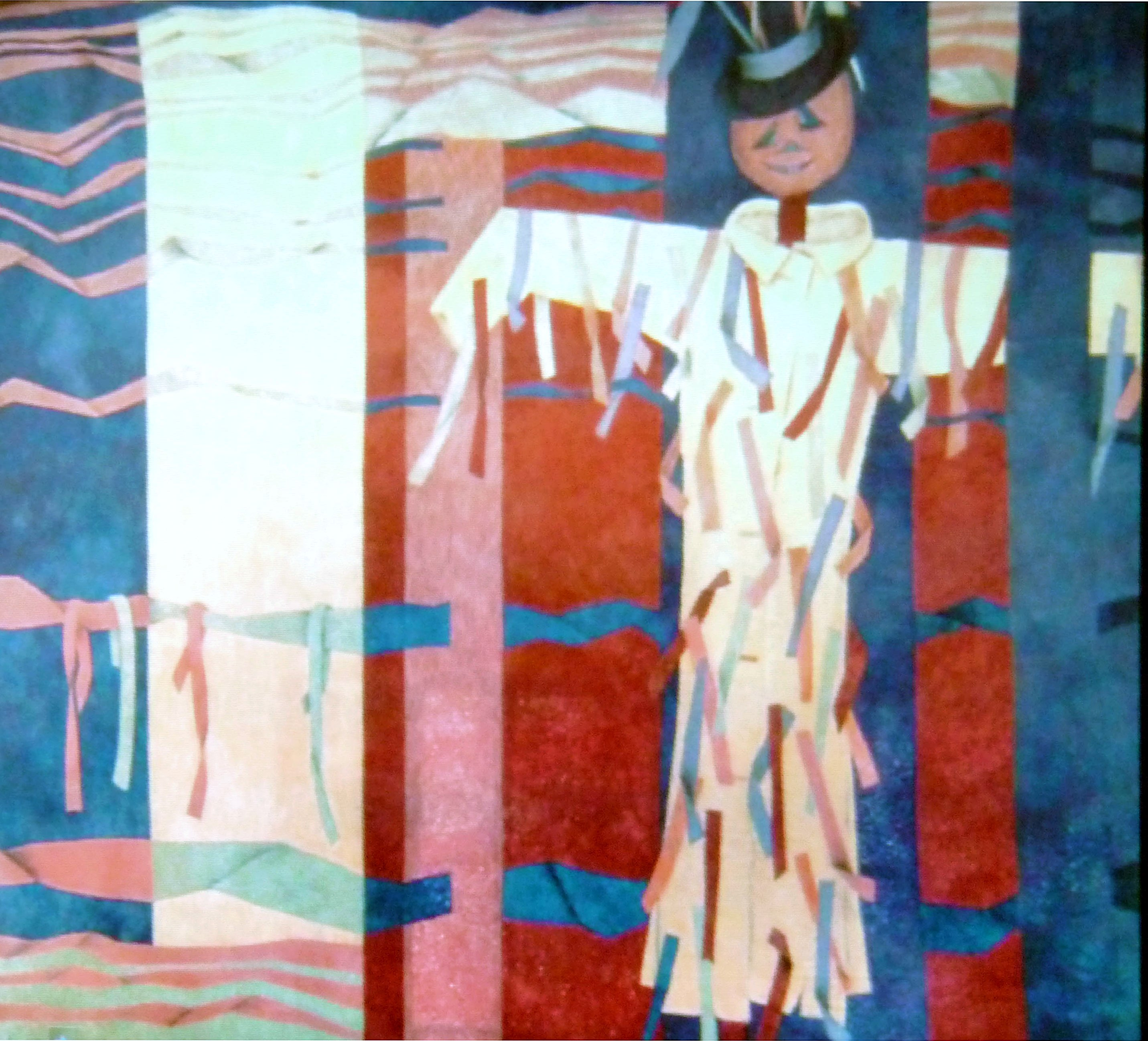 slide from Bobby Britnall of a quilt influenced by Morris dancers
