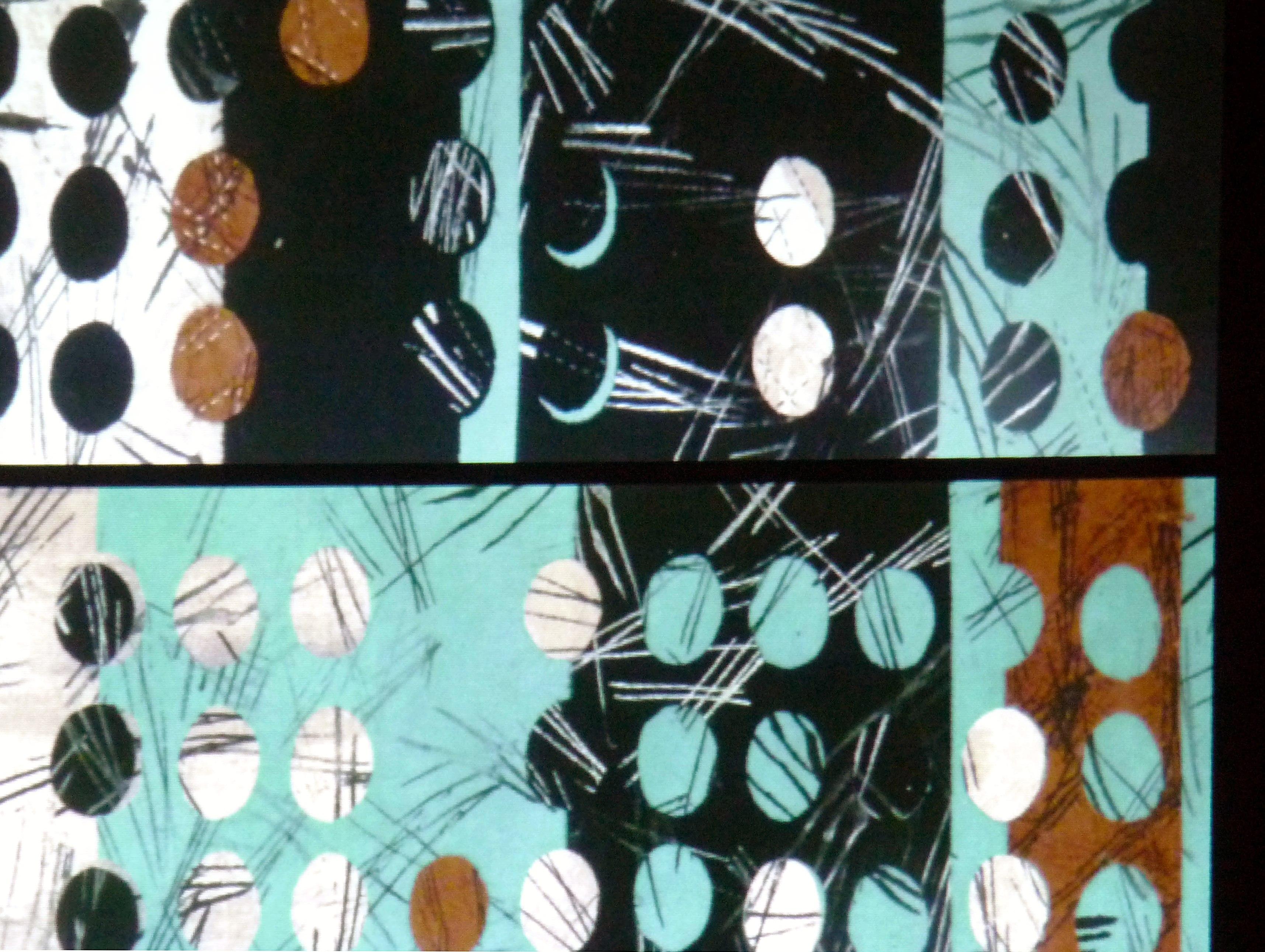slide by Bobby Britnall barkcloth embroidery