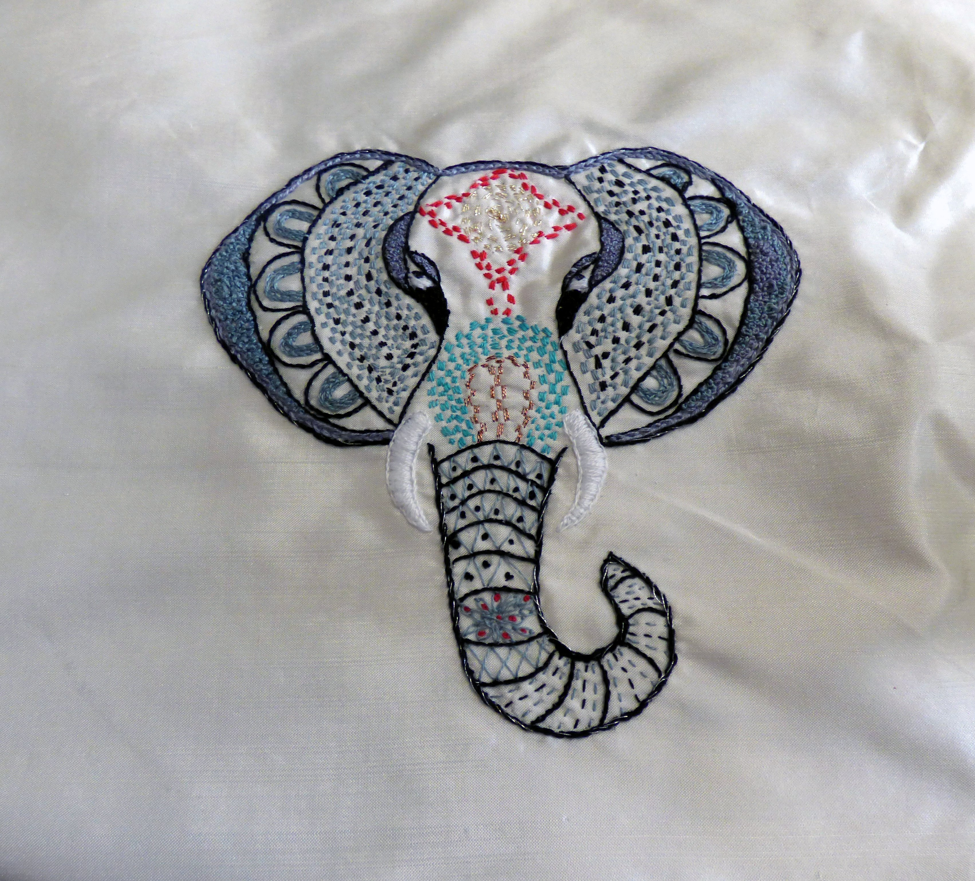 ELEPHANT by Jean Mather, a square for the latest Sreepur quilt