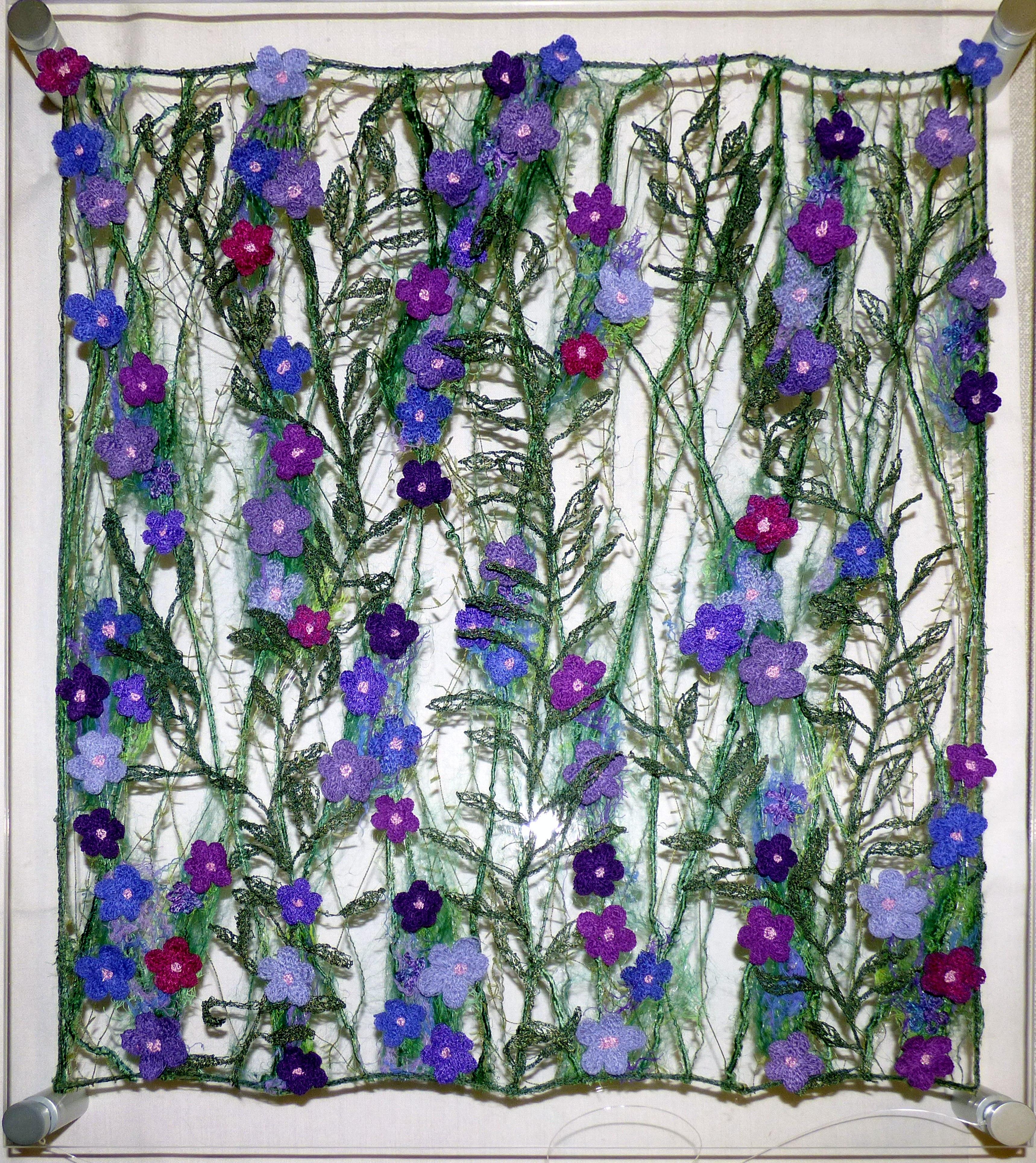 embroidery on perspex by Moya McCarthy, N.Wales EG