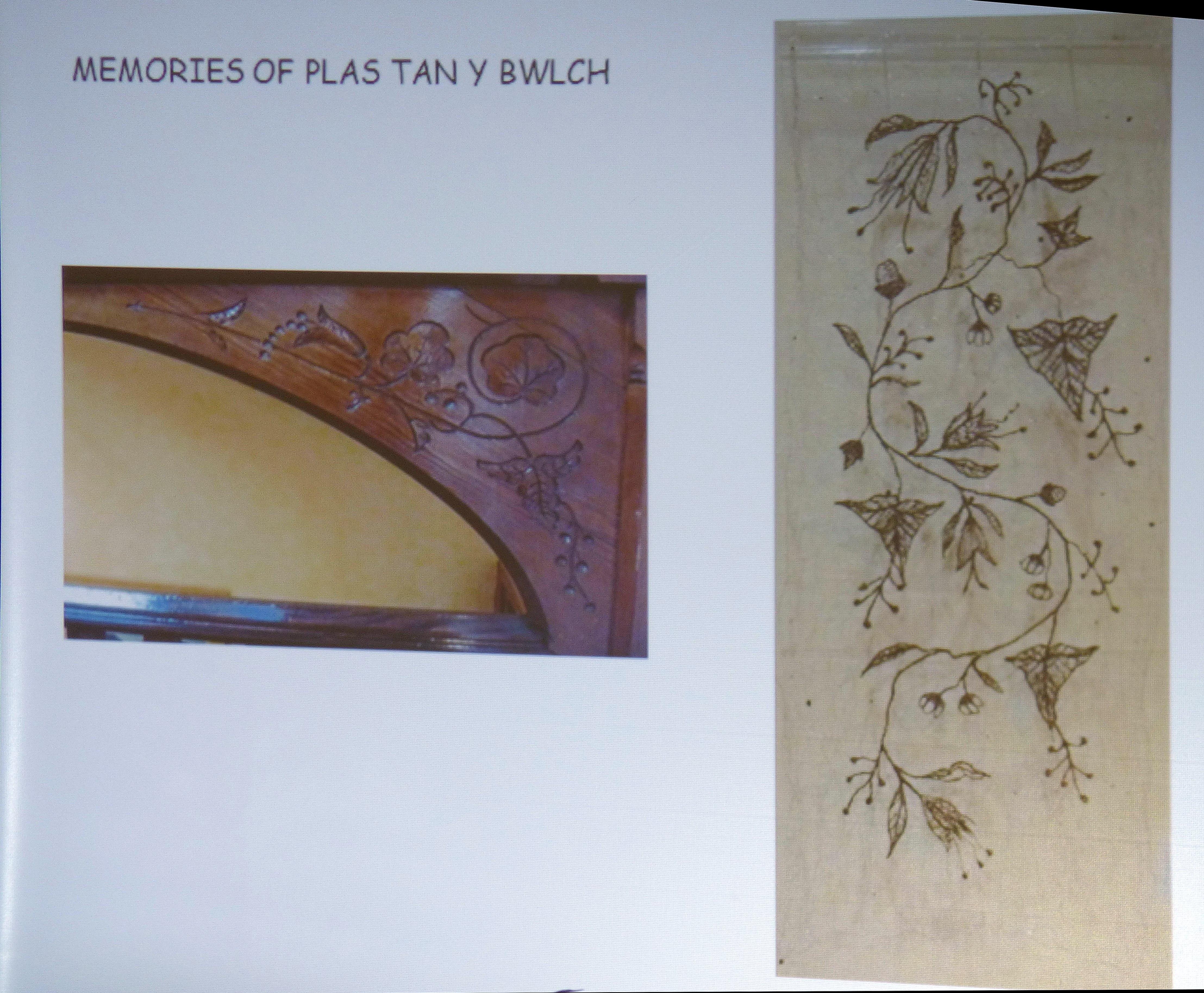 slide showing metal thread embroidery by Moya McCarthy, N.Wales EG