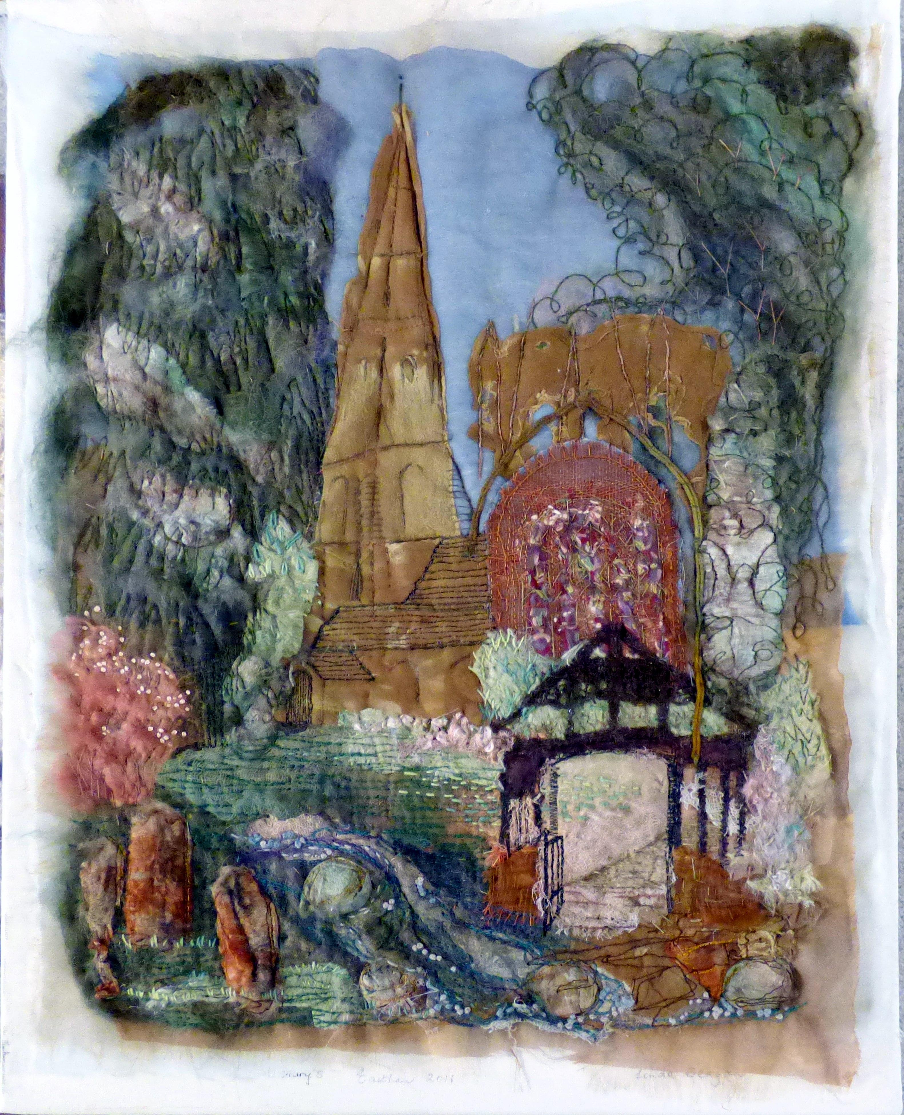 embroidery by Linda Beagan, N.Wales EG