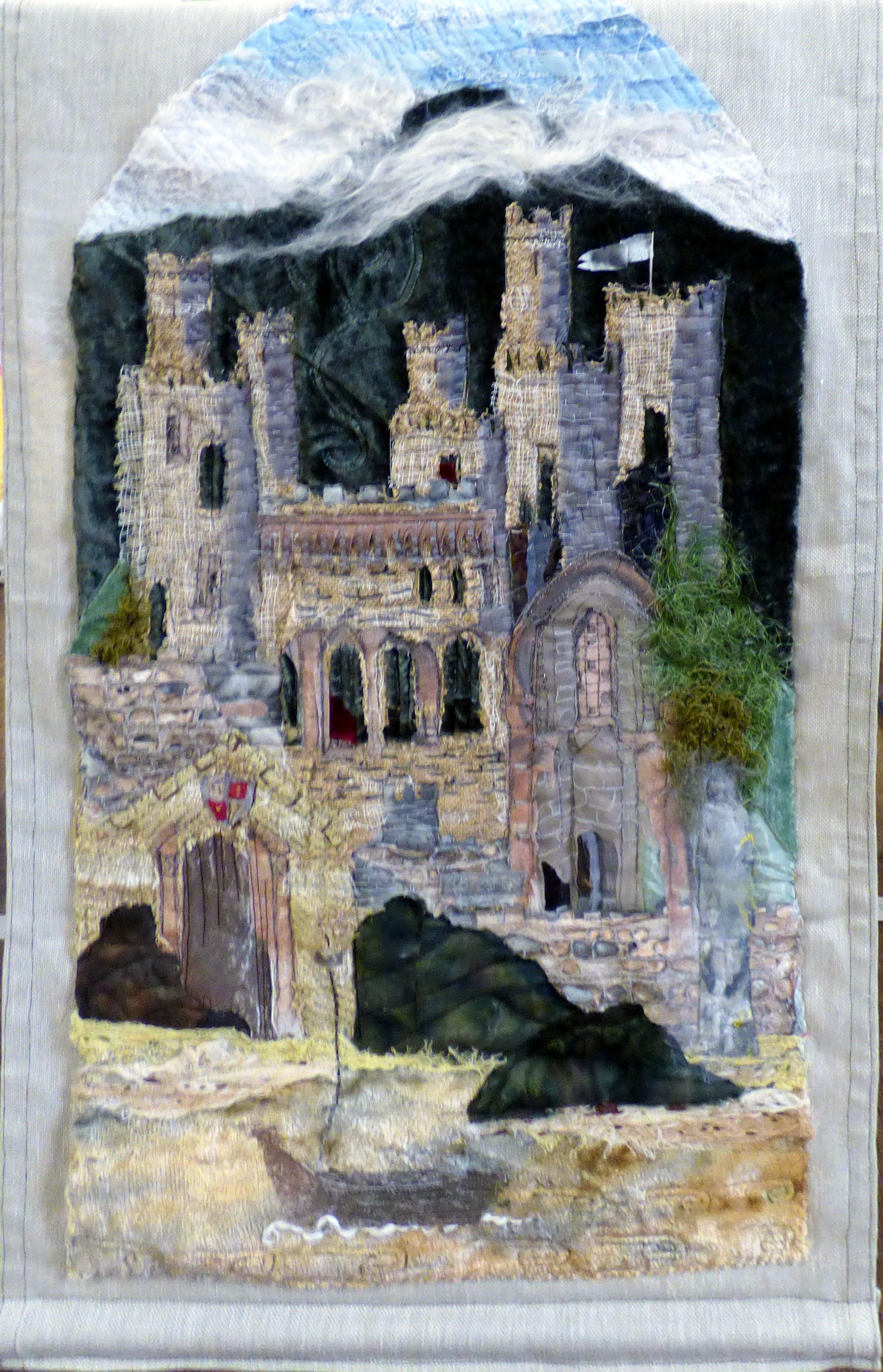 REBUILDING A CASTLE hanging by Linda Beagan, N.Wales EG