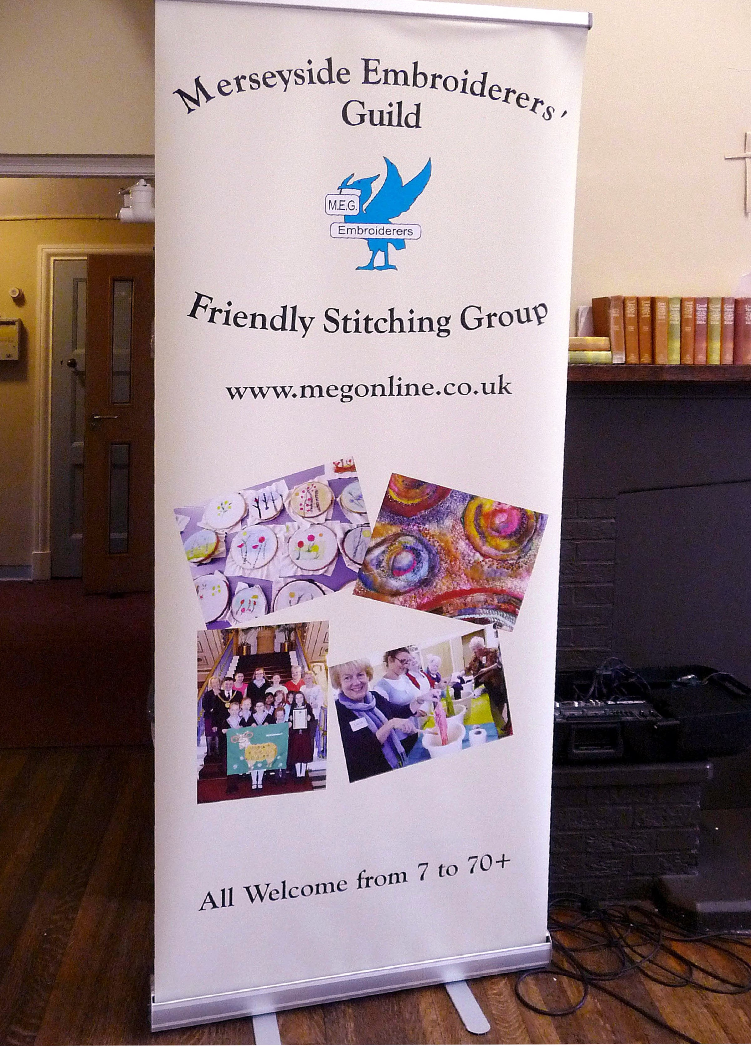 the new MEG advertising display stand