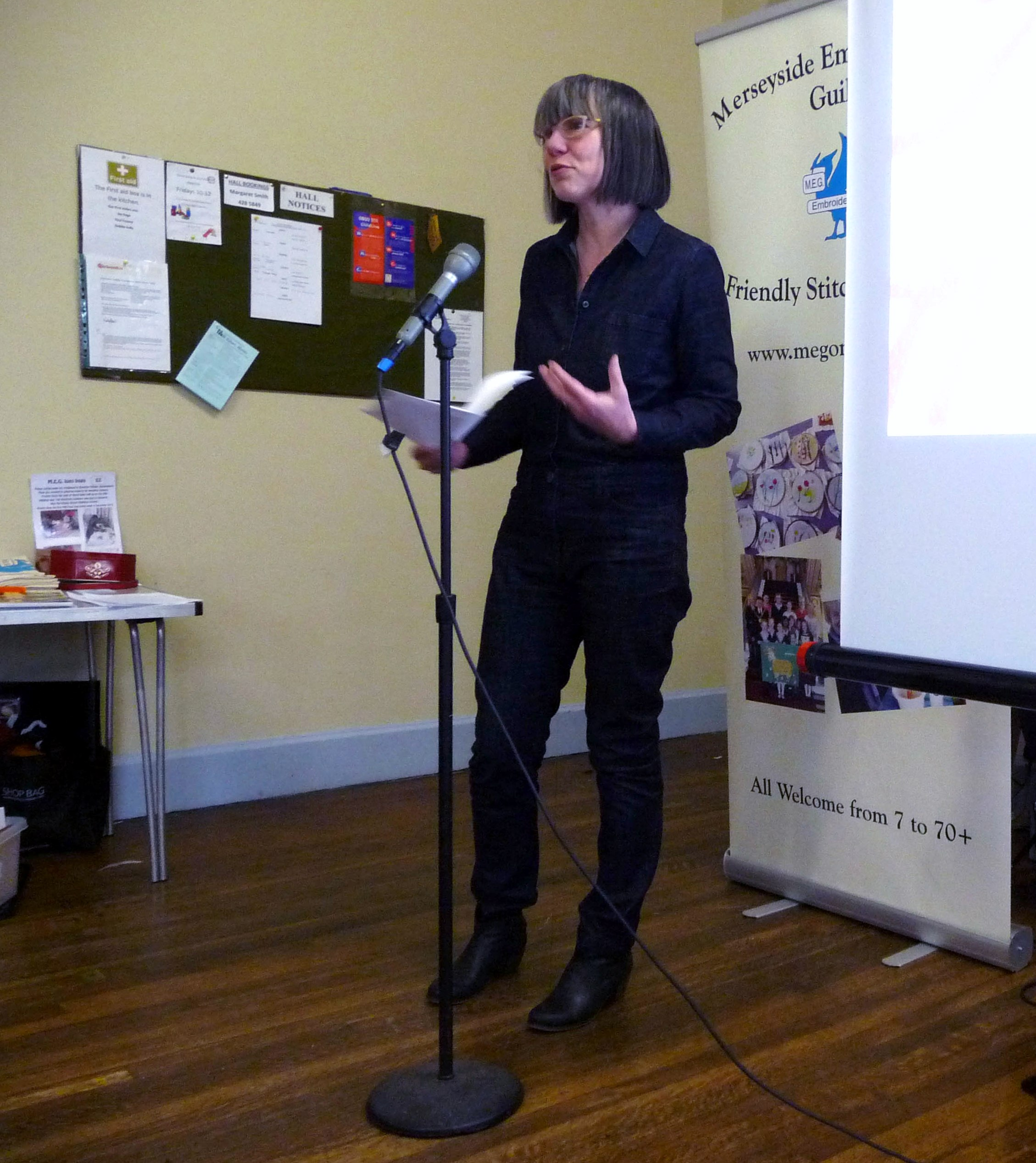 Rachael Howard at Merseyside Embroiderers Guild