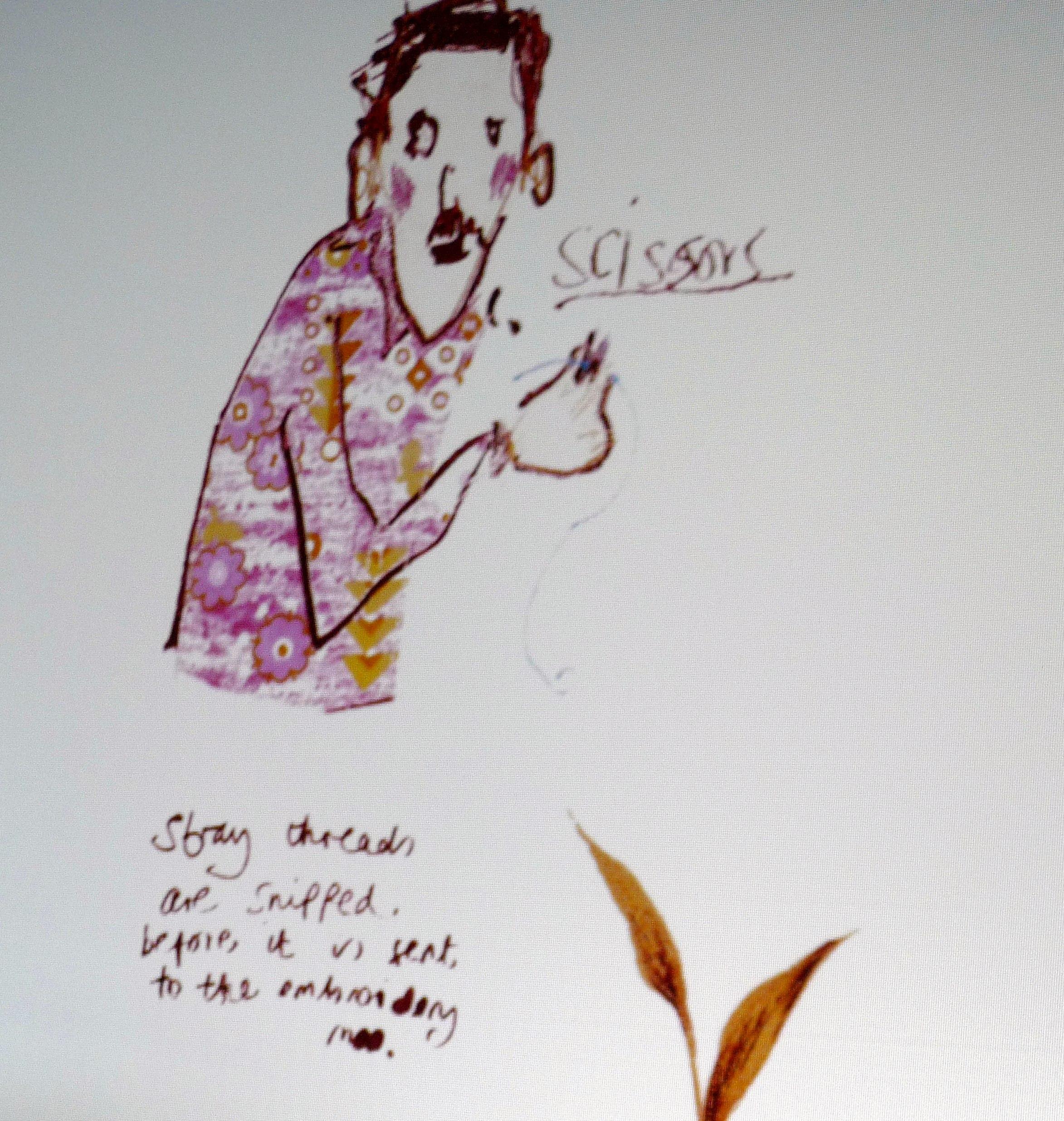 slide showing a sketch by Rachael Howard