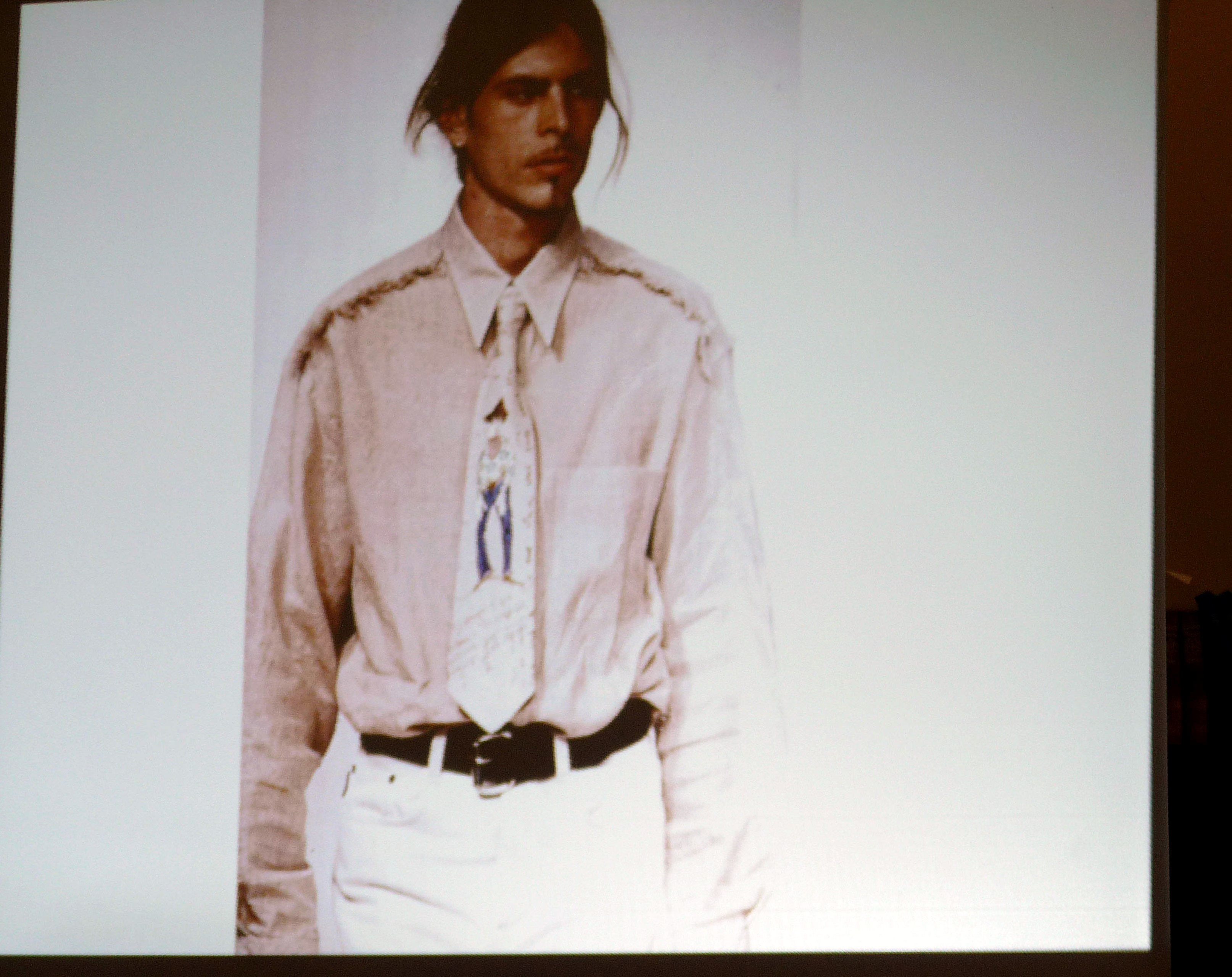 slide showing a tie made by Rachael Howard