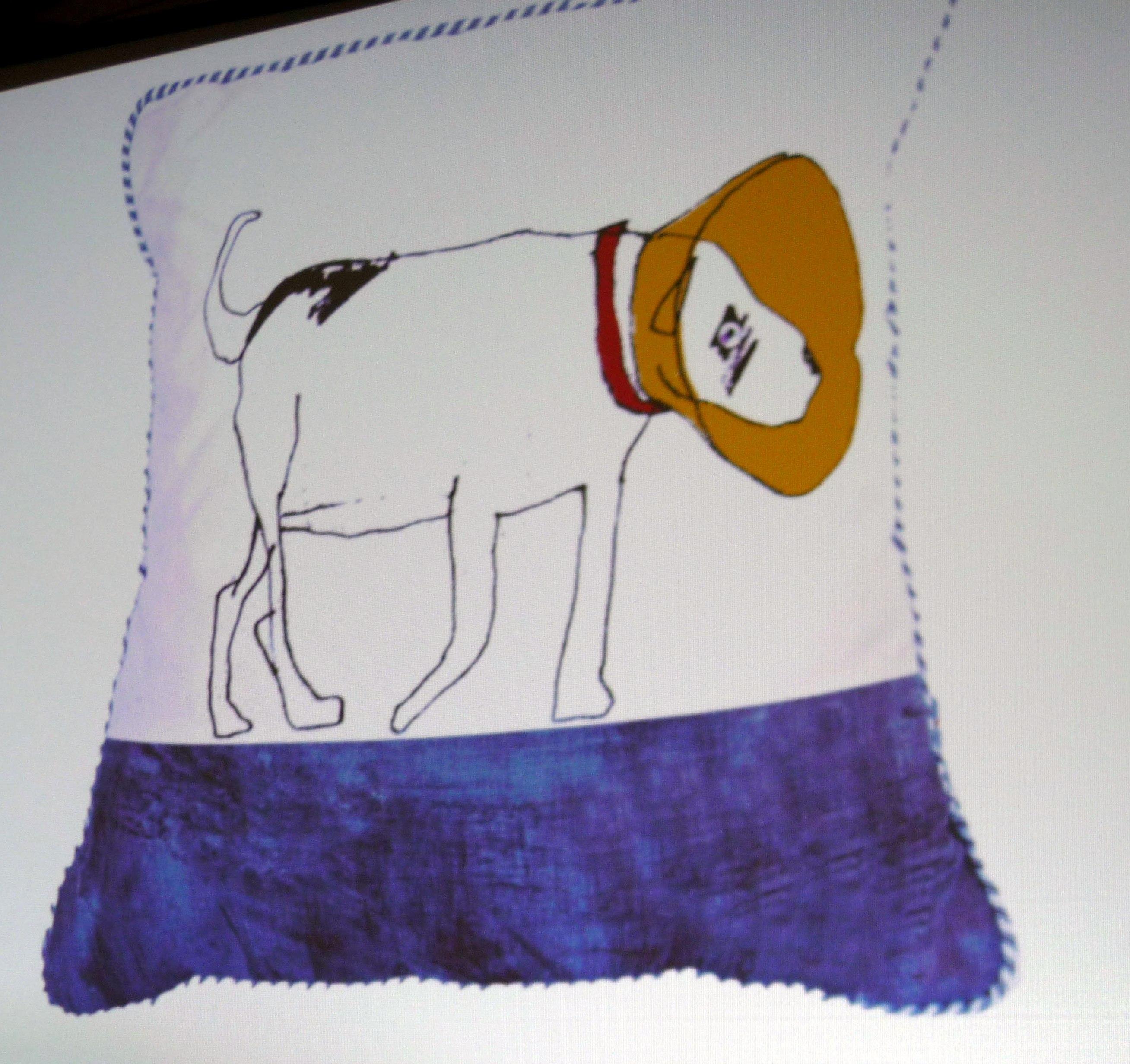 slide showing a cushion by Rachael Howard