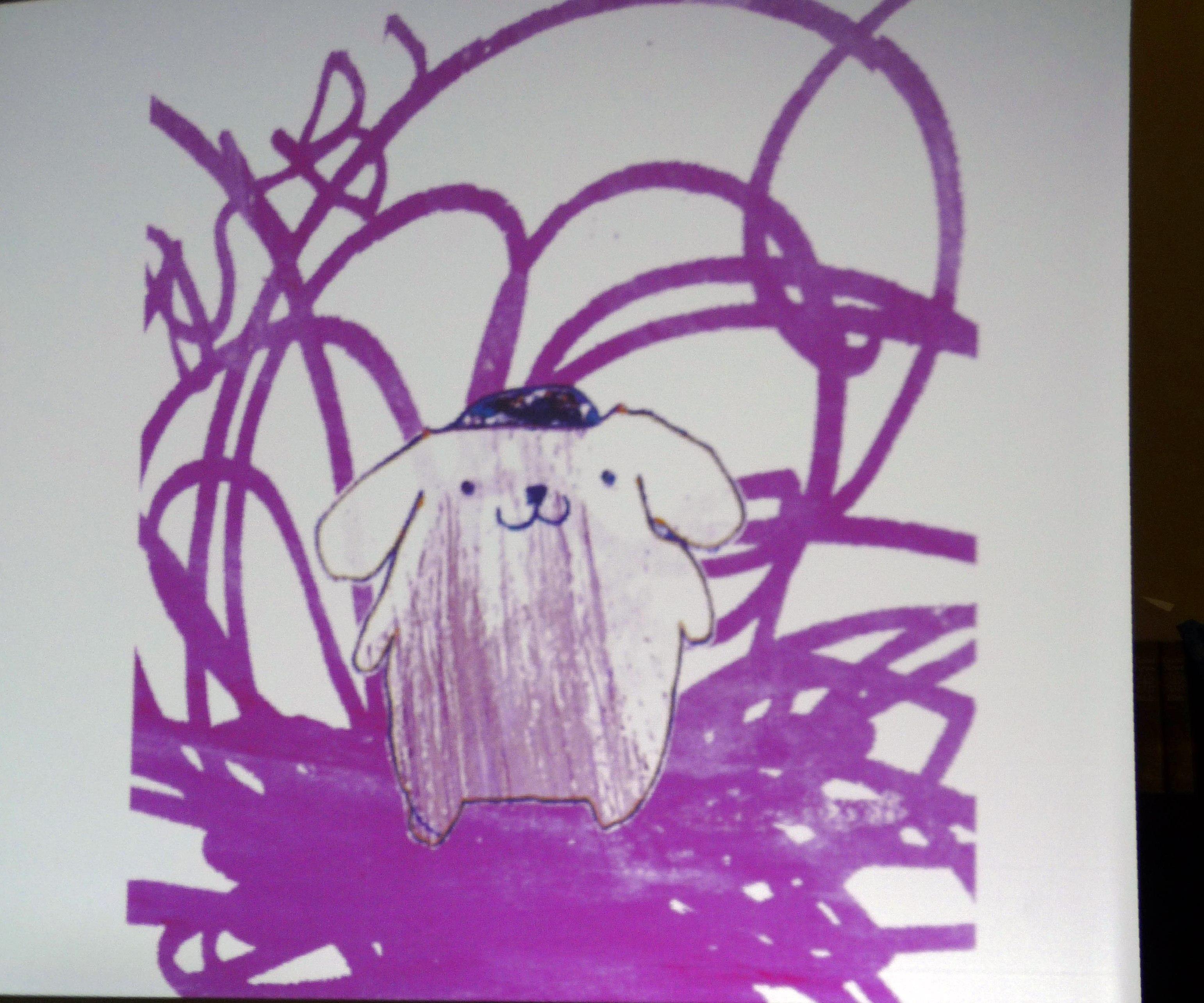 slide showing Rachael Howard sketch