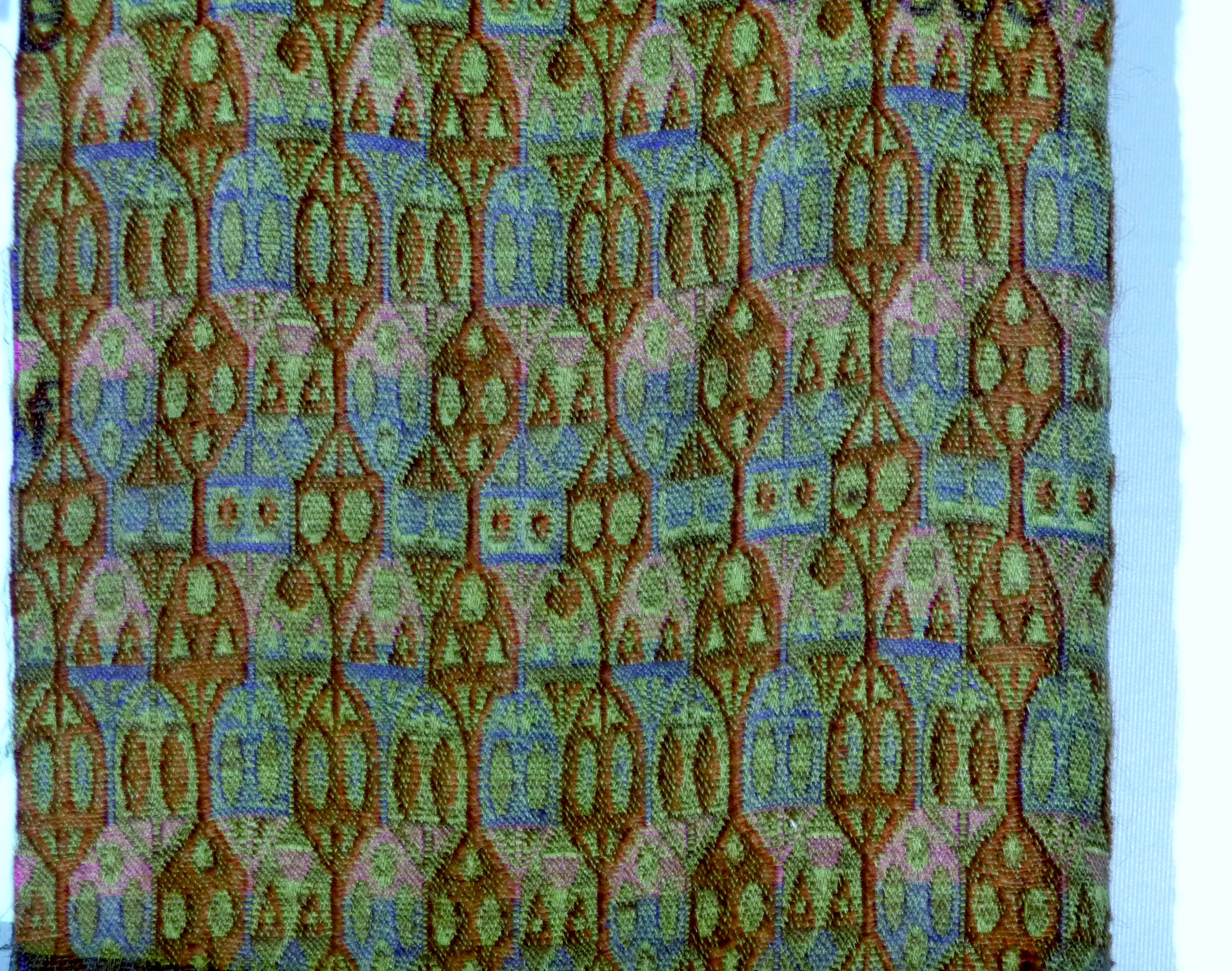 fabric design by Tibor Reich. Fabric was collected by Liz and Alun Evans of Retropattern