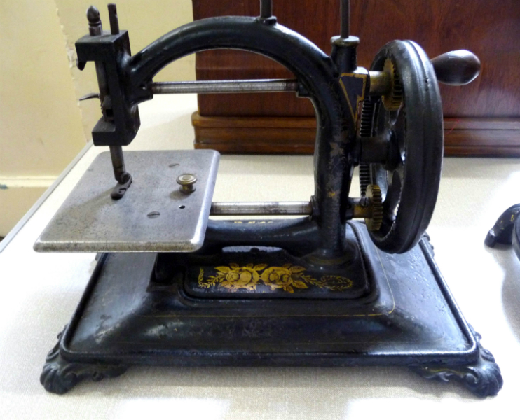 One of Sue Sercombe\'s antique sewing machines