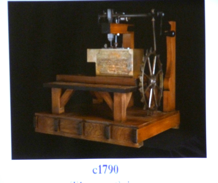 a sewing machine invented by Thomas Saint in 1790