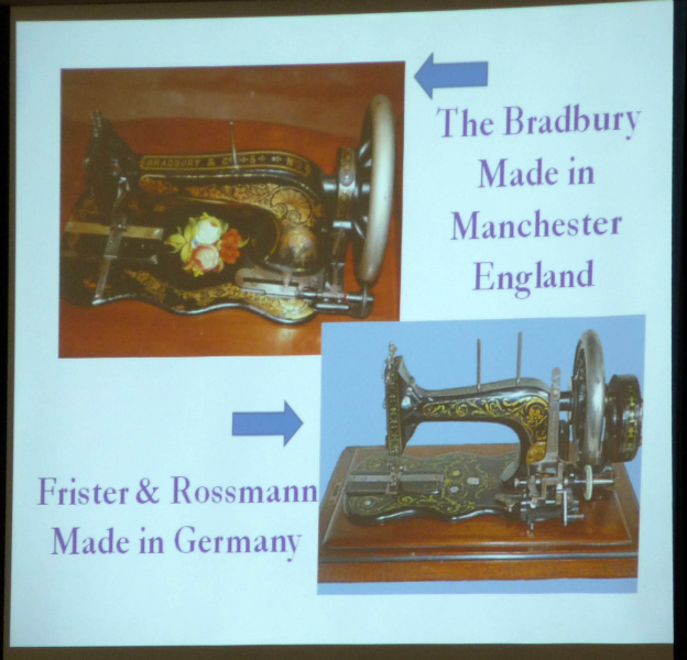an English and a German firm copy the shape of the Singer sewing machine