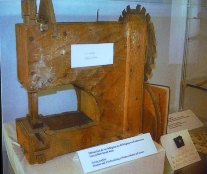 sewing machine made in a German prison camp during World War 2