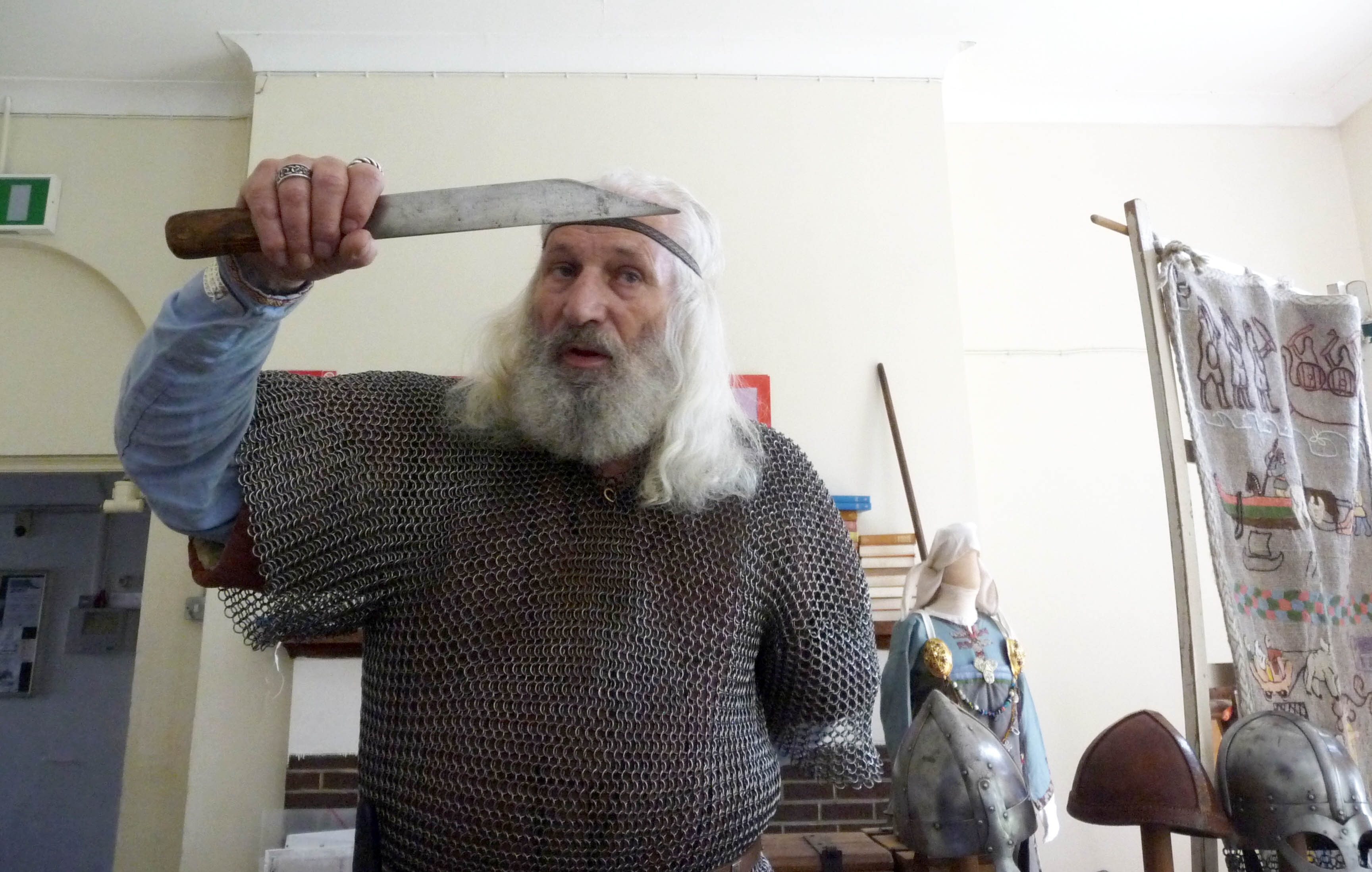 Snorri the Viking with his eating knife