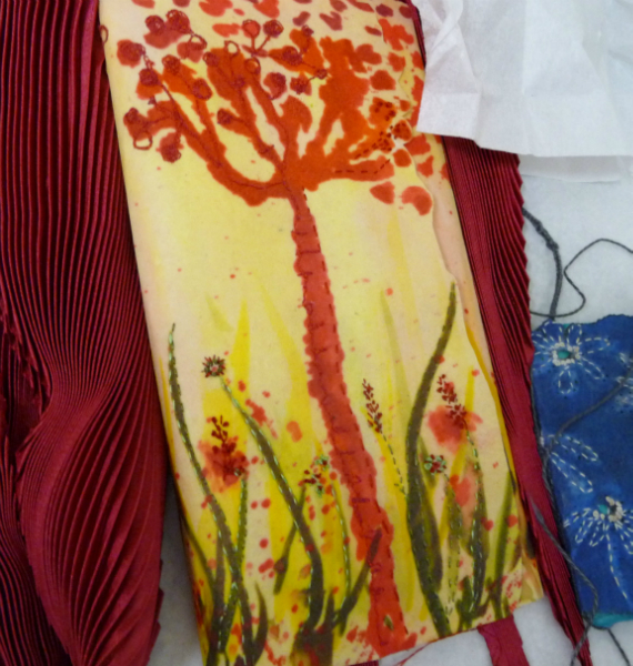 Nawal Gebreel- dyed fabric sample
