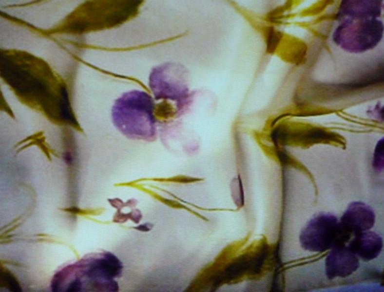 sample of printed fabric