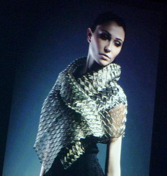 pleated fabric by Nawal Gebreel