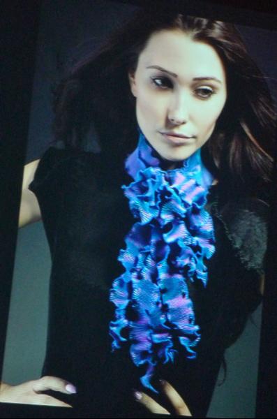 pleated scarf by Nawal Gebreel