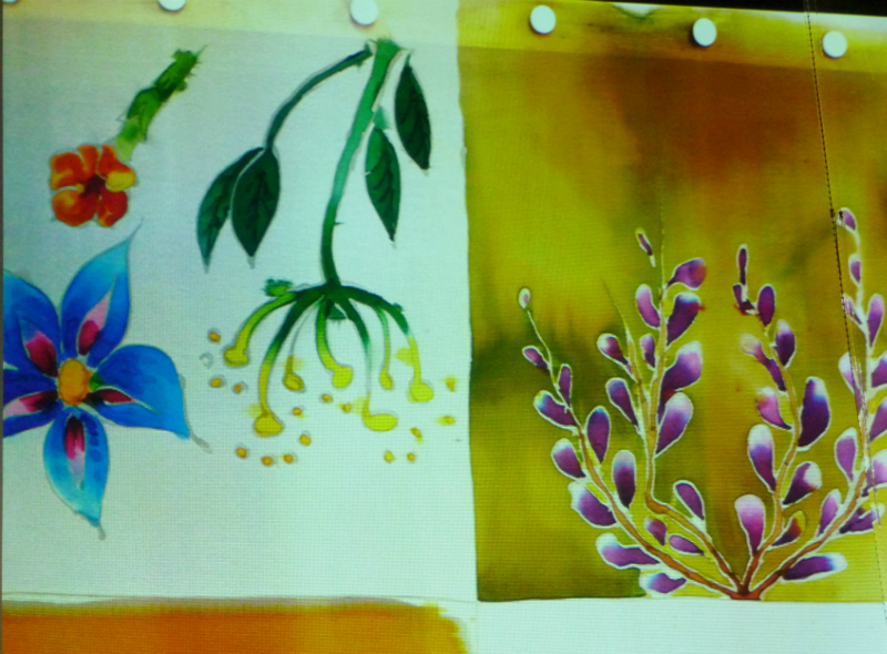 samples of silk painting
