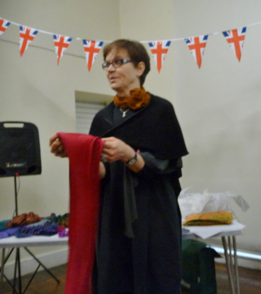 Nawal shows us how to tie one of her scarves