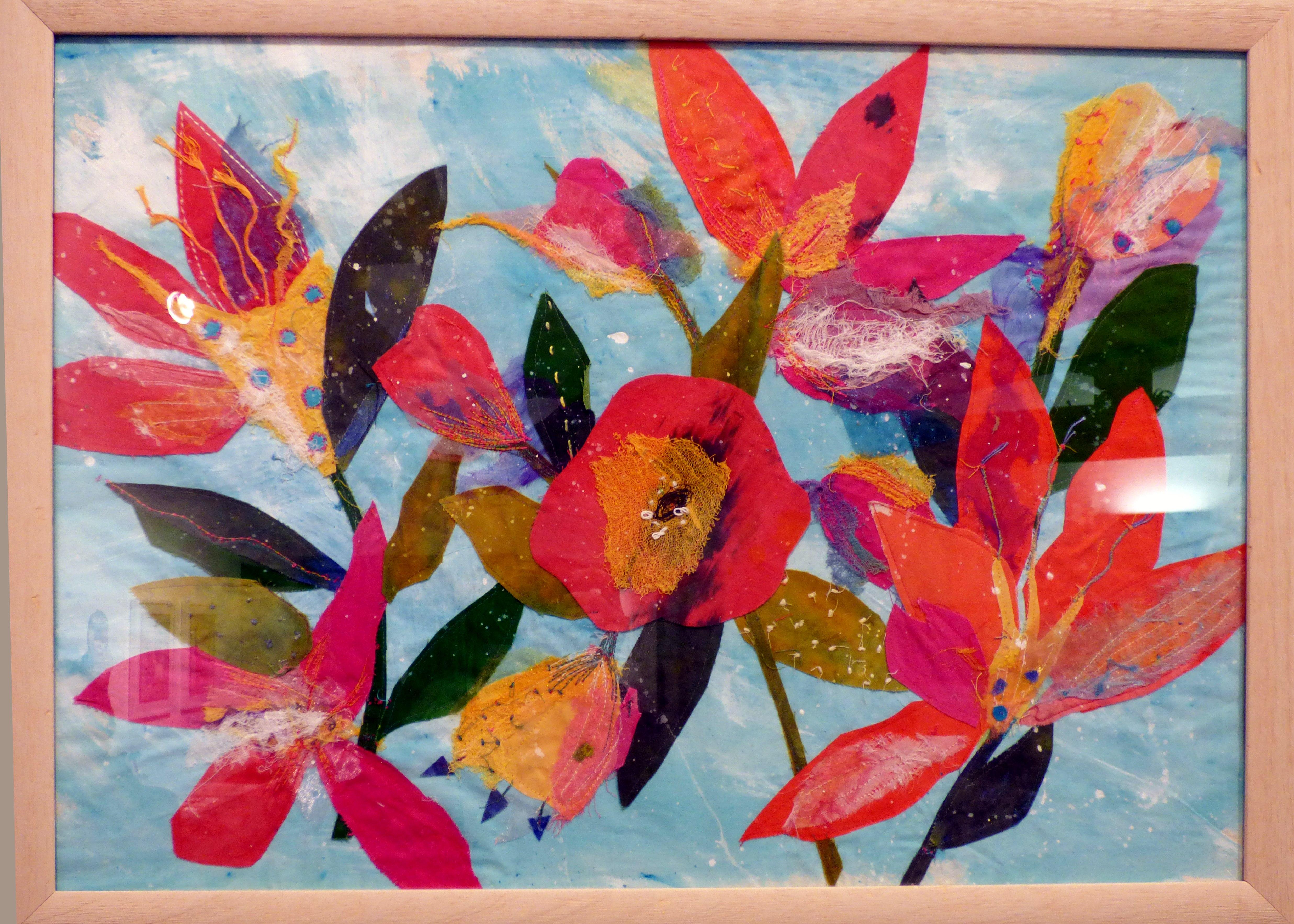 FLOWERS by Liliane Taylor, Ten Plus exhibition, Nantwich