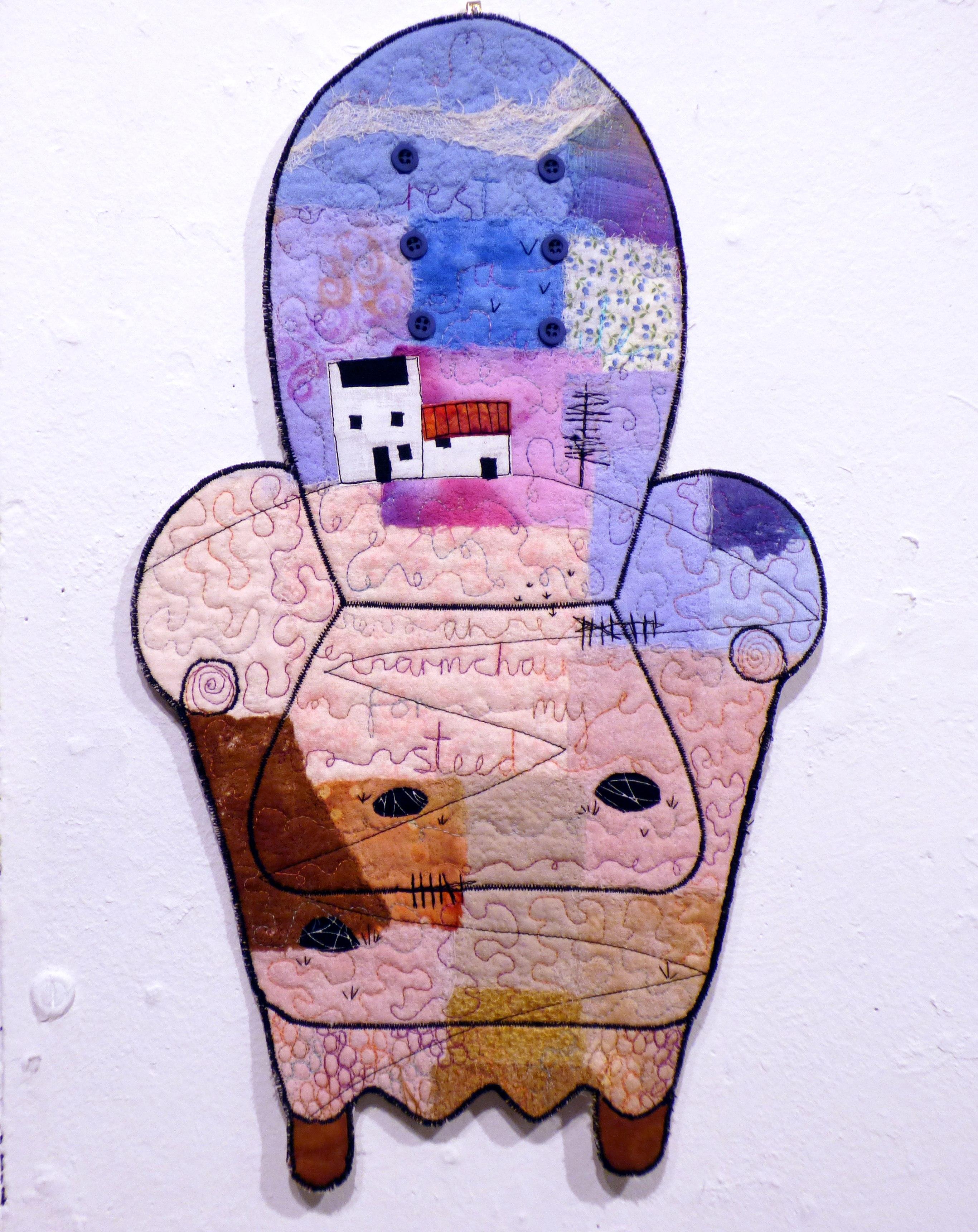 AN ARMCHAIR FOR MY STEAD by Michelle Barnard, Ten Plus exhibition, Nantwich