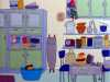 RETRO KITCHEN by Linda Young, applique and hand stitch