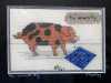 THE WINWICK PIG by Mavis Bentley, petit point on canvas