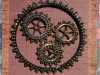 WHEELS OF TIME by Sue Wickson, beadwork applique