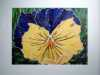 PANSY - COLOURS OF WARRINGTON by Aruna Mene, fabric collage