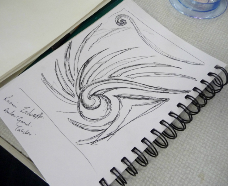 sketched design for a paper stencil