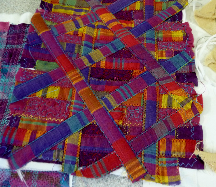 One of Elsie\'s samples of manipulated fabric