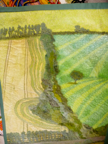 One of Esiie\'s samples of machine embroidery