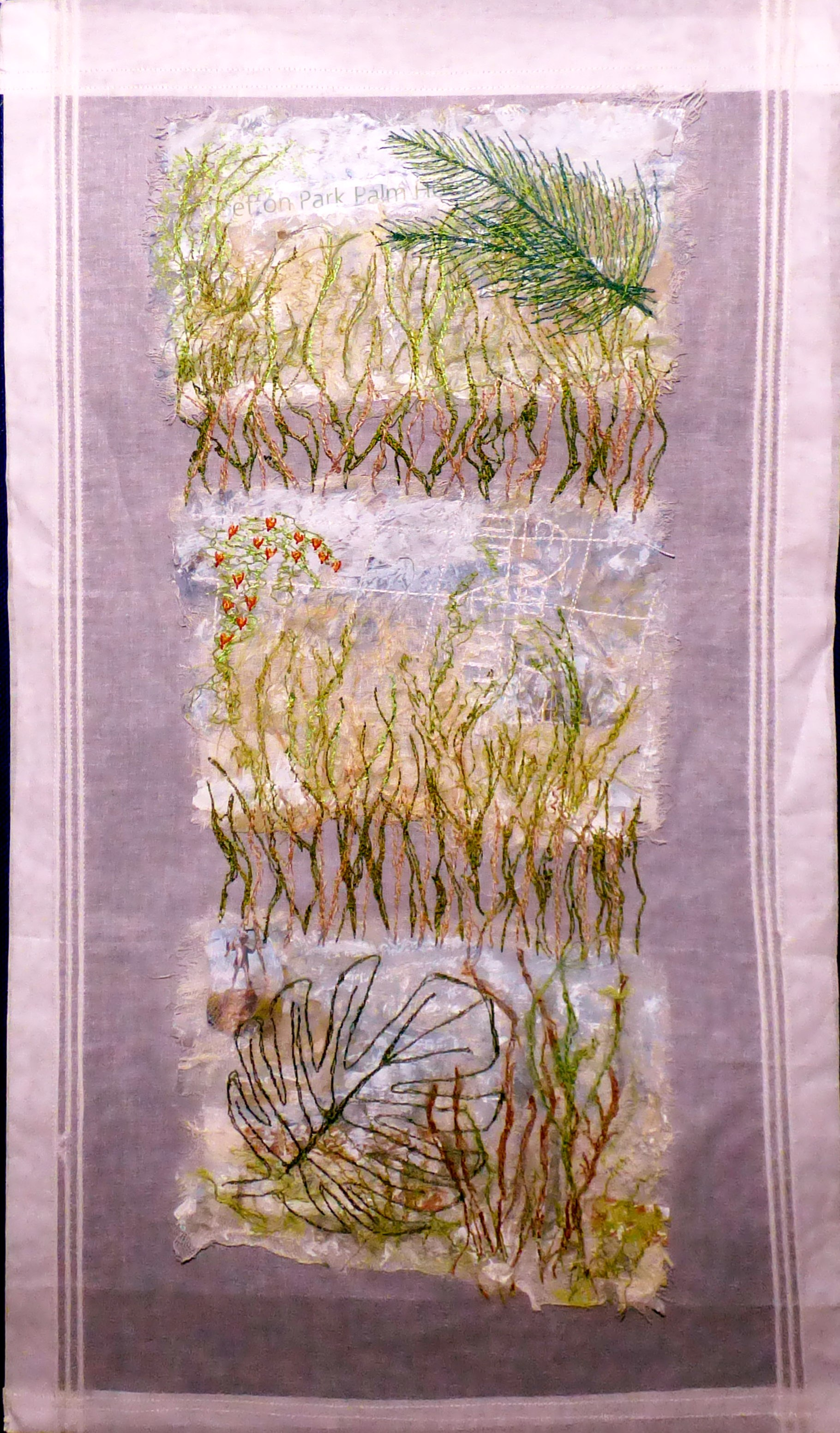 SHEER BOTANICALS by Pat McBride,  Contemporary Threads group, March 2020