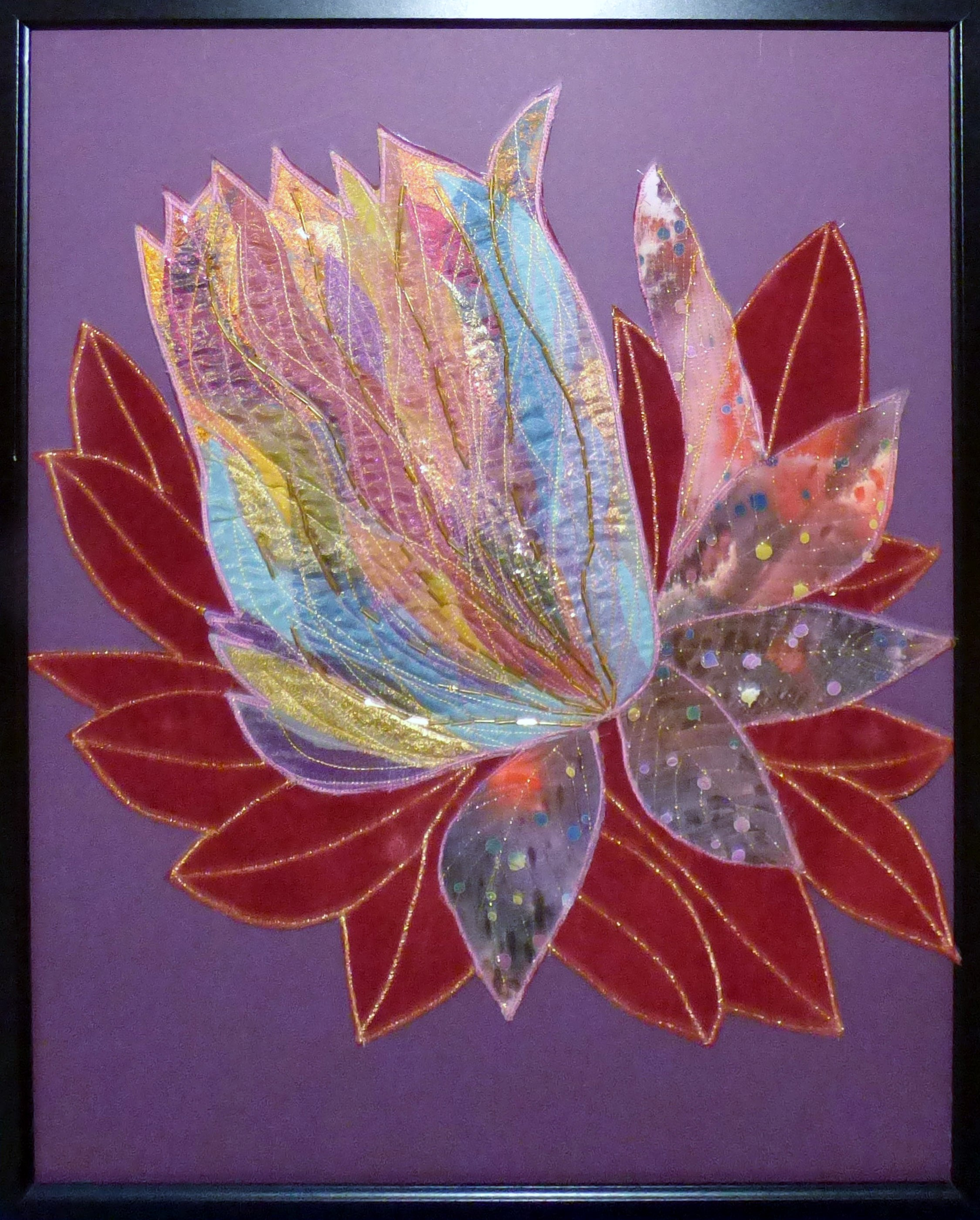 TROPICAL BLOOM BY Sue Tressidor,  Contemporary Threads group, March 2020