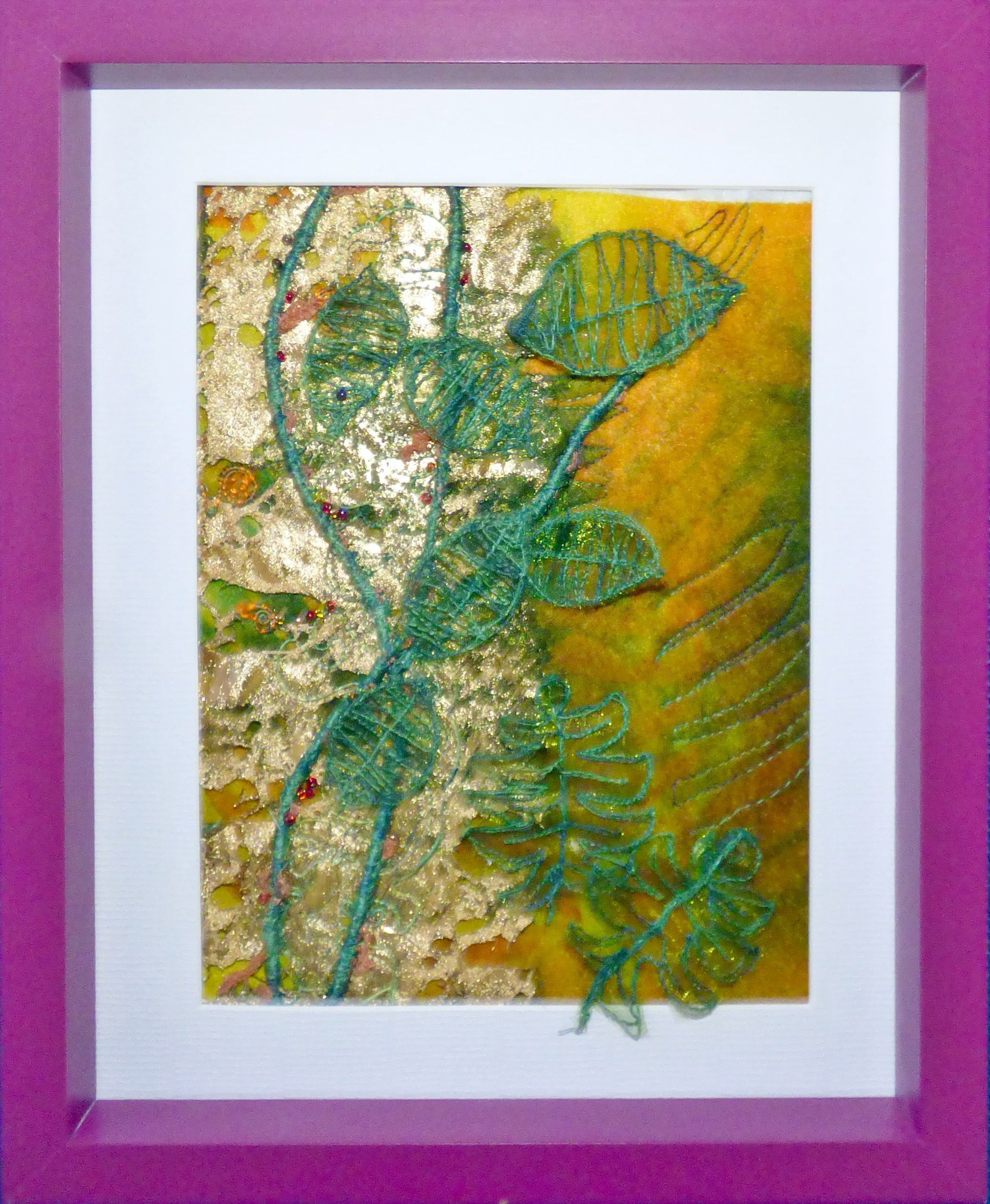 TREES AND FERNS by Jackie Greasley,  Contemporary Threads group, March 2020