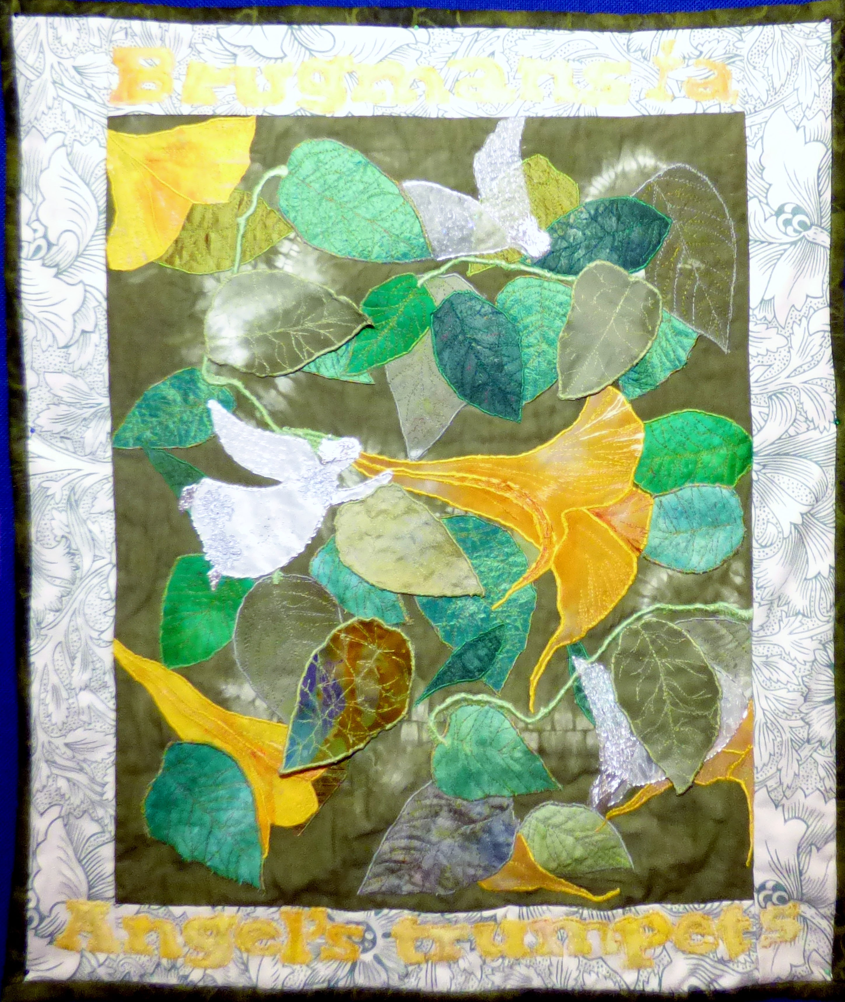 ANGEL'S TRUMPETS by Mal Ralston,  Contemporary Threads group, March 2020