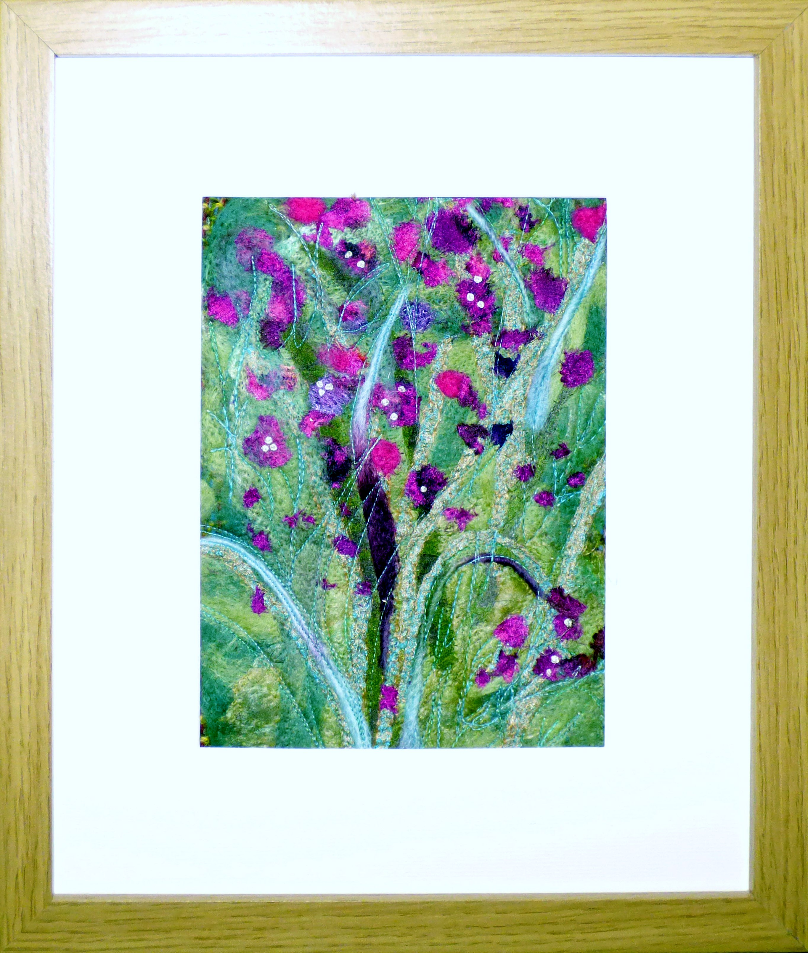BOUGAINVILLEA by Jackie Greasley,  Contemporary Threads group, March 2020