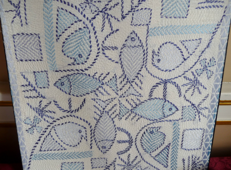 Fancy Kantha Embroidery Patterns Crest Easy Scarf Knitting