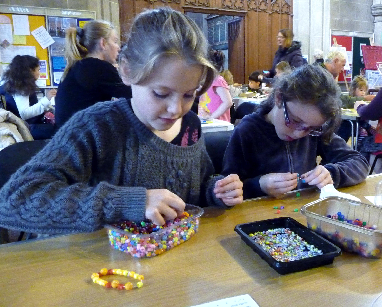 Children's craft afternoon in St. Barnabus Church