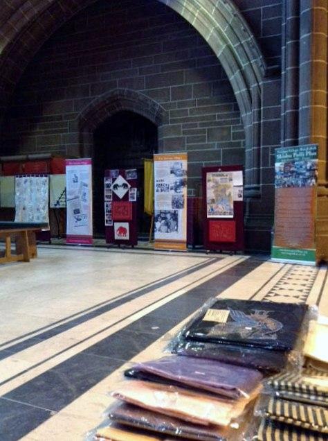 Threading Dreams Sreepur exhibition, Liverpool Anglican Cathedral, Feb 2016