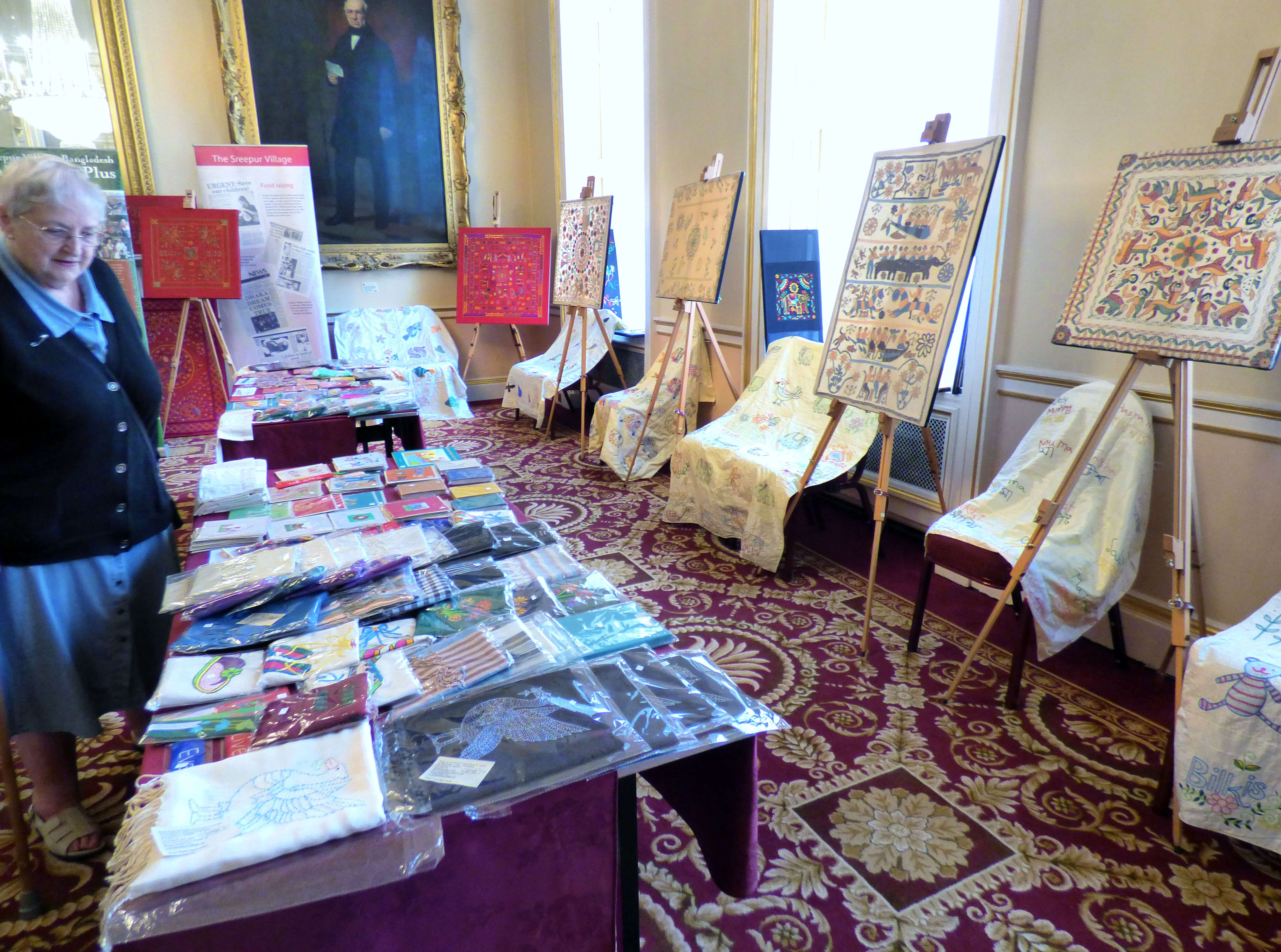 """""""Threading Dreams"""" exhibition at Liverpool Town Hall, August 2016"""
