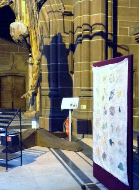 Threading Dreams exhibition in Liverpool Cathedral, March 2017