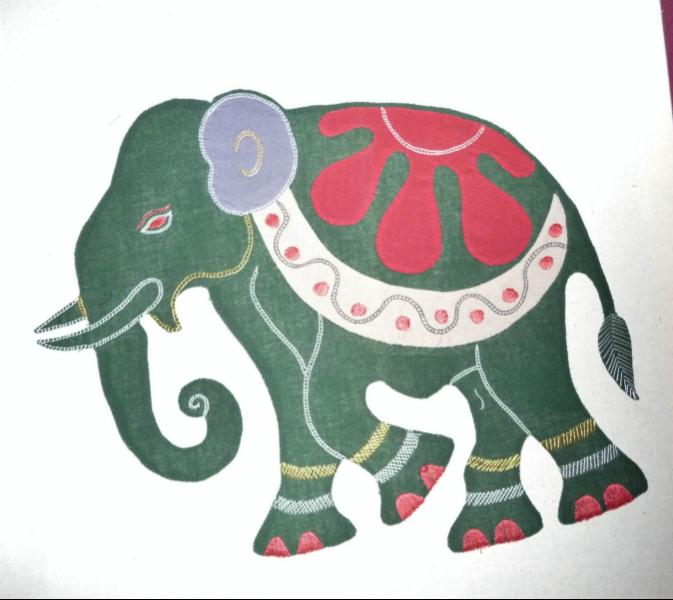 applique elephant from Bangladesh