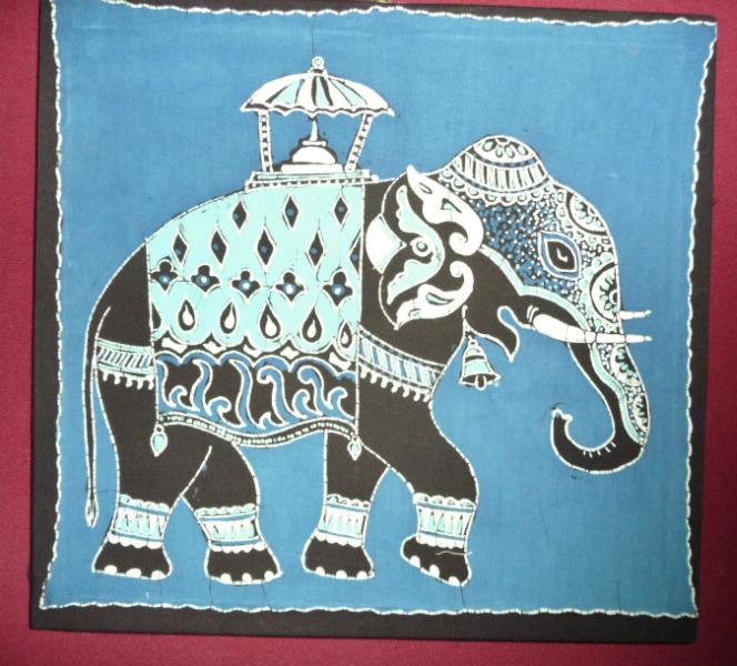 screen printed elephant from Bangladesh