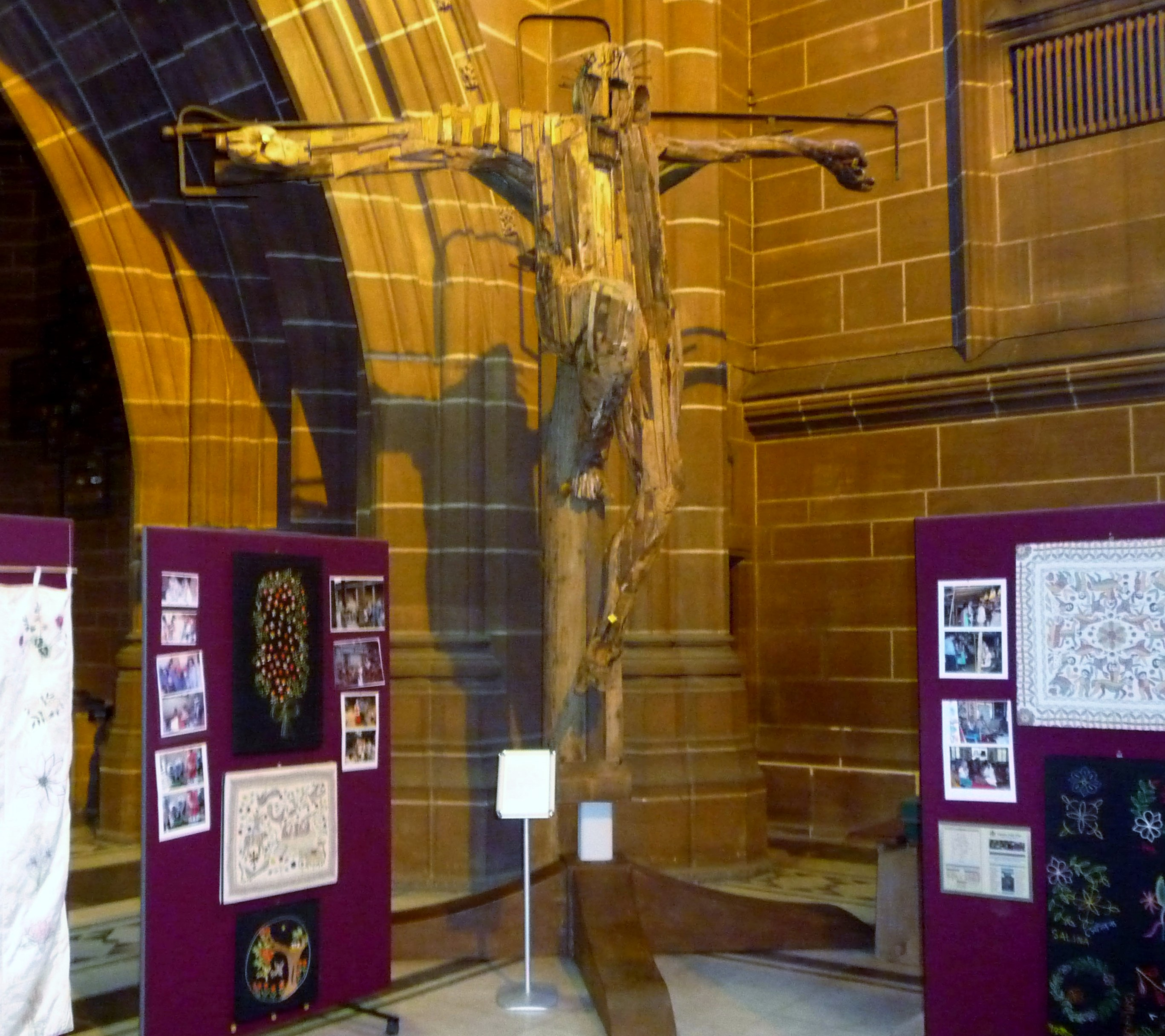 """""""Outraged Christ"""", a wooden artwork in Liverpool Cathedral and Sreepur """"Threading Dreams"""" exhibition"""